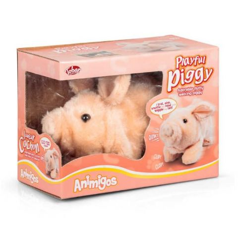 Playful Piggy Animigos Plush Toy Tobar 18m+